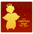 angel card square 16 vector image vector image