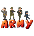 Army vector image vector image