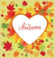 Autumn leaves border design vector image vector image
