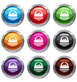 basket with cranberries set 9 collection vector image
