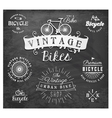 Bicycle Badge and Labels in Vintage Style vector image