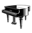 black and white of the piano vector image