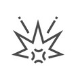 bomb explosion icon vector image
