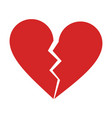 broken heart cartoon icon image vector image vector image