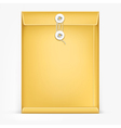 Brown envelope with white rope vector image vector image