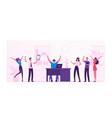 businesspeople celebrate project development vector image vector image