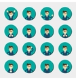 Cartoon young man expressing different emotions vector image