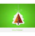 Christmas with abstract pine tree vector image vector image