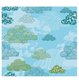 cloud kids theme pattern vector image vector image