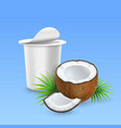 coconut yogurt open yogurt package ads vector image