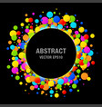 colorful bright circle confetti round papers frame vector image vector image