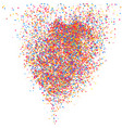 colorful explosion confetti colored grainy vector image