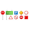 creative of road warning sign vector image vector image