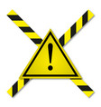 danger tapes in yellow-black line vector image