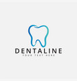 dental logo design template isolated vector image vector image