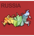 Digital russia map with abstract colored vector image vector image