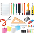 drawing office set vector image vector image