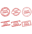 Fair trade stamps vector image