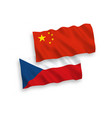 flags czech republic and china on a white vector image