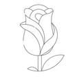 flat logo rose vector image vector image