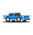 flats retro vehicle vector image