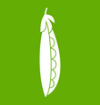 fresh peas icon green vector image