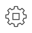 gear engineering icon vector image