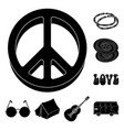 happy and attribute black icons in set collection vector image vector image