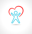Healthy Person vector image