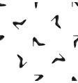 high heel shoe pattern seamless black vector image vector image