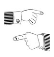 Human hand indicates something important vector image
