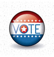 isolated usa flag button of vote concept vector image