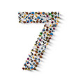 large group of people in number 7 seven form vector image vector image