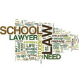 law school know how text background word cloud vector image vector image