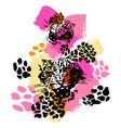 leopard exotic wild cat pattern vector image
