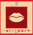 lips symbol icon vector image