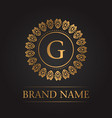 luxury gold template monogram vector image vector image
