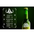 menu template - beer and alcohol with place vector image