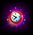 mobile game clock or timer icon on black vector image vector image