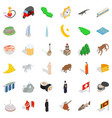 mosque icons set isometric style vector image vector image