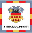 Official government ensigns of transylvania vector image