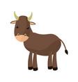 ox cute cartoon manger animal image vector image vector image