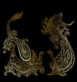 paisley ethnic ornament hand drawn vector image vector image