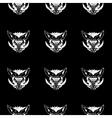 Pattern stencil boar headUnique technique Vintage vector image
