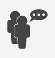 people icon with speech bubbles flat vector image vector image