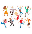 people jumping celebration party vector image vector image