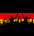 people silhouettes celebrating germany national vector image vector image