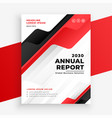 red color annual report business brochure design vector image vector image