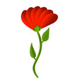 red honey flower icon cartoon style vector image