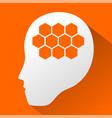 robot brain symbol vector image
